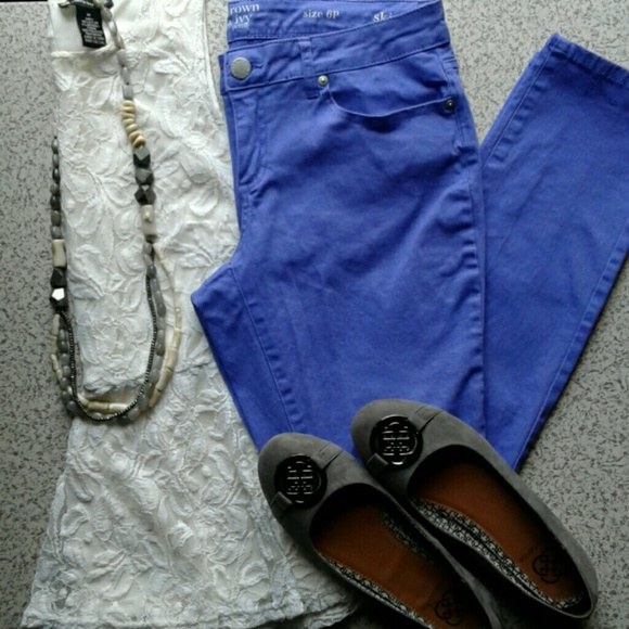 db1cb698c crown & ivy Pants   Crown Ivy Petite Skinny Light Purple   Poshmark